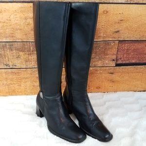 Karen Scott Cruz Black Leather Boots Zipper 7.5